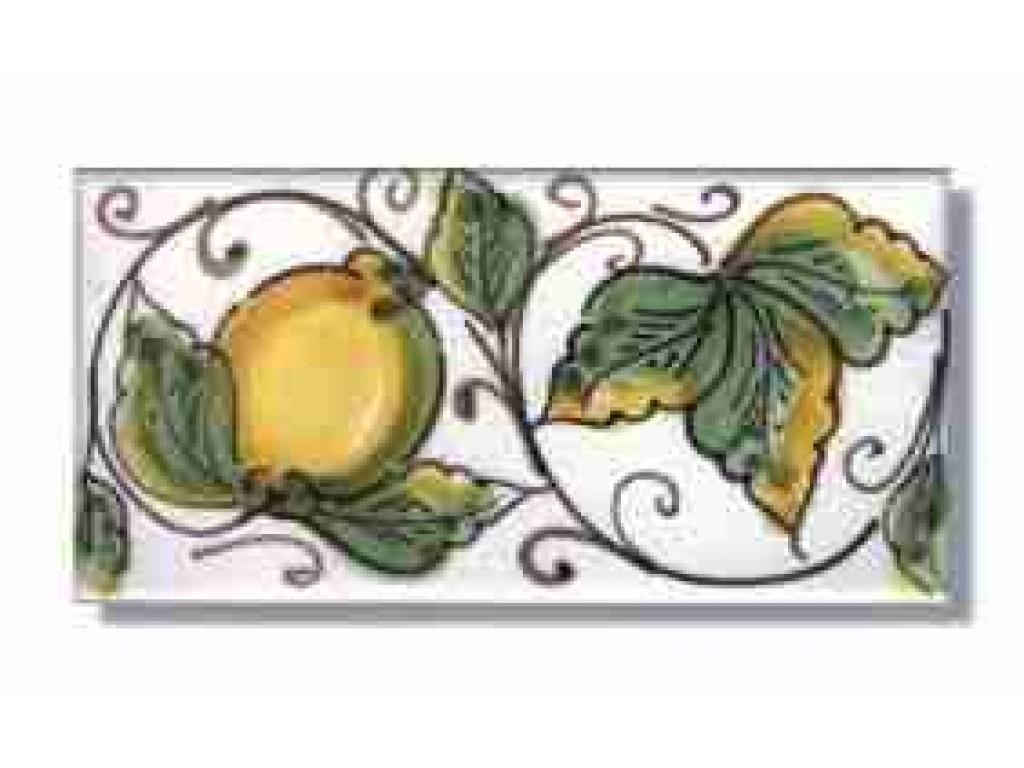 Piastrella decoro limoni amalfi collezione fasce decorate