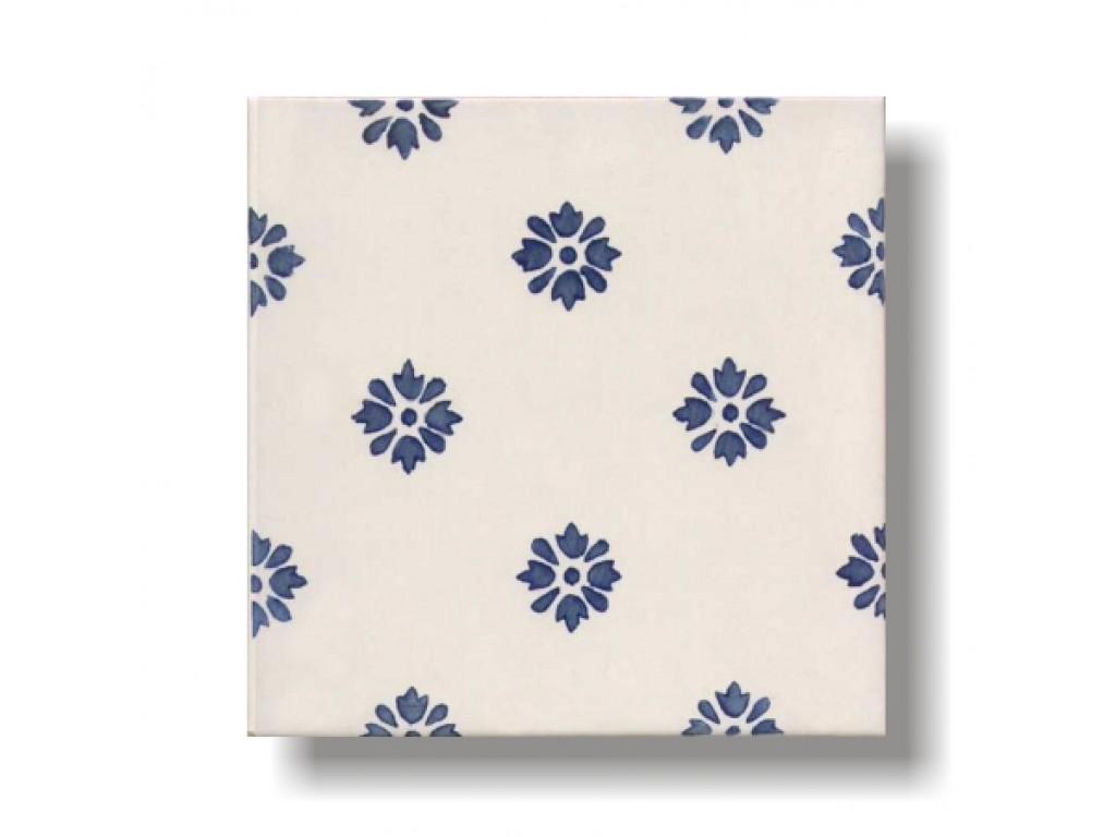 Piastrelle Cucina Con Fiori piastrella decoro fiori blu - collezione antica camastra