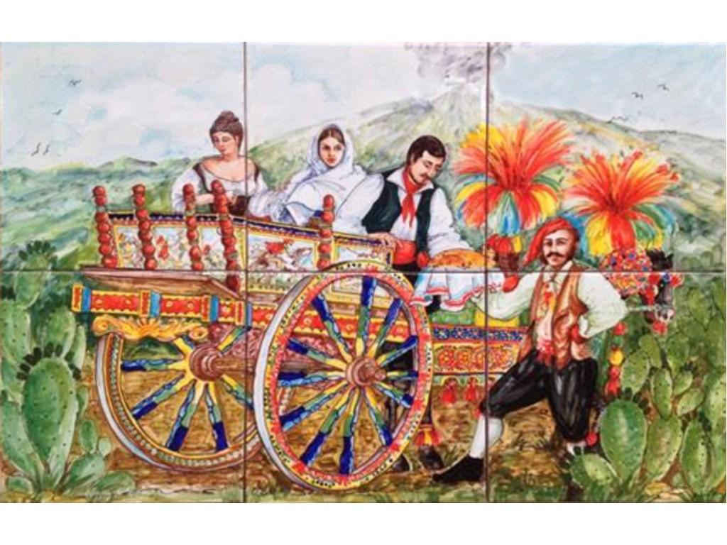 Pannello carretto siciliano collezione pannelli decorativi