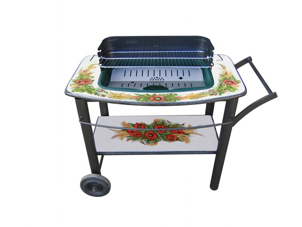 Rivestimento per barbecue decoro papaveri e spighe collezione