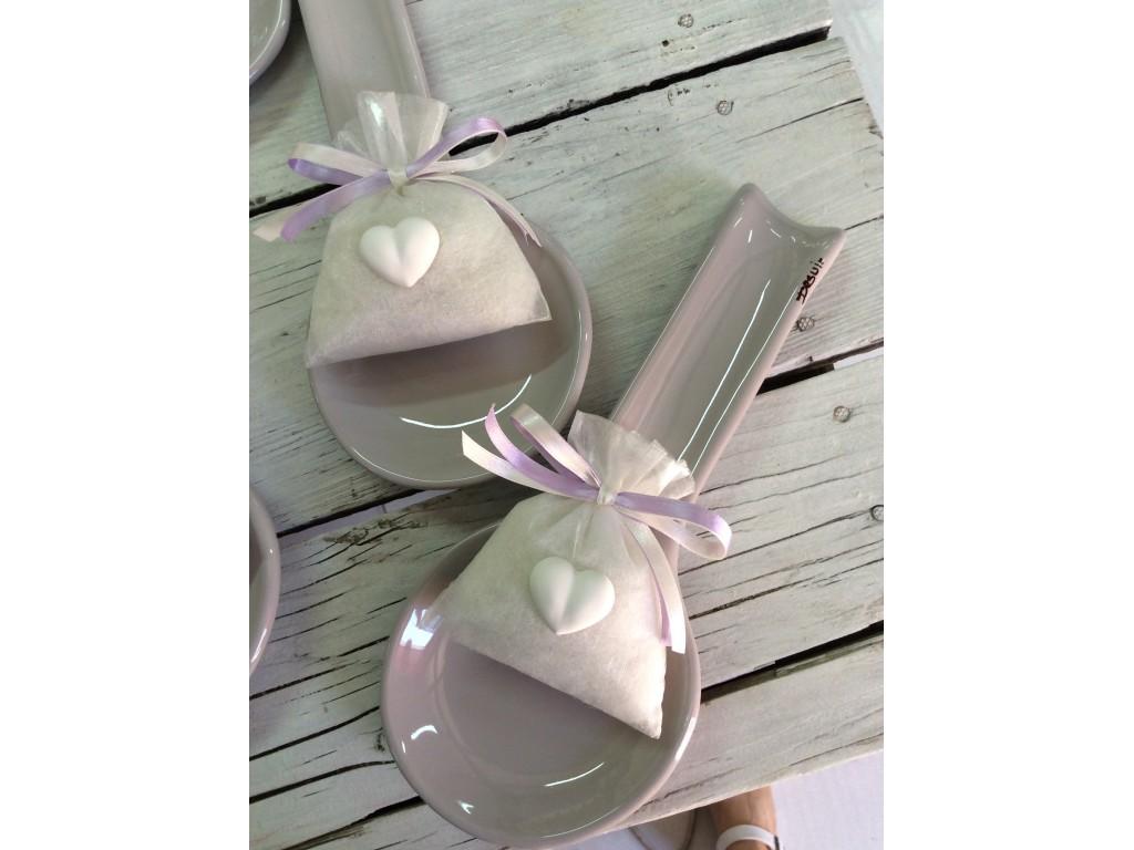 Poggiamestolo bomboniere in ceramica