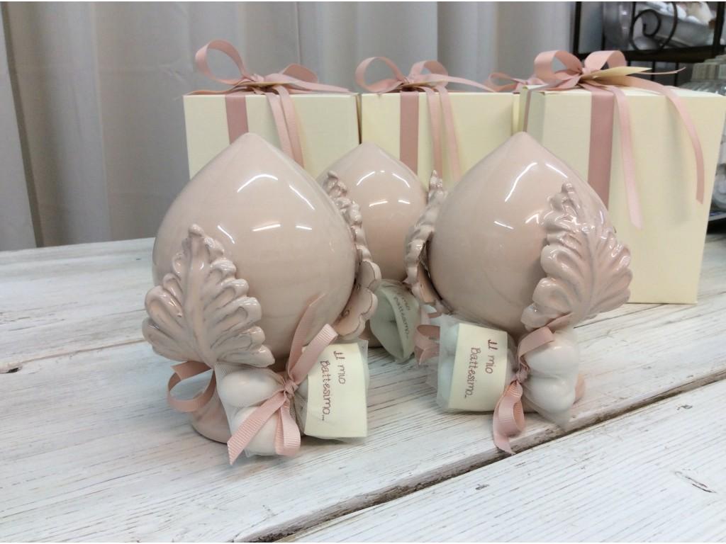 Pomo bomboniere in ceramica